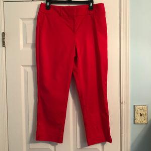 LOFT Red Julie Rivera Pant